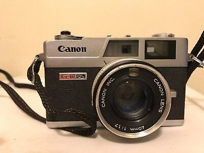Canon G-III QL-17 35mm Rangefinder Film Camera Body Only with 40mm Canon lens