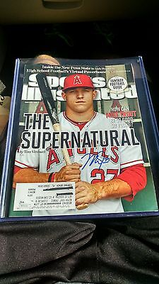 Mike Trout Sports Illustrated Autographed (JSA COA)