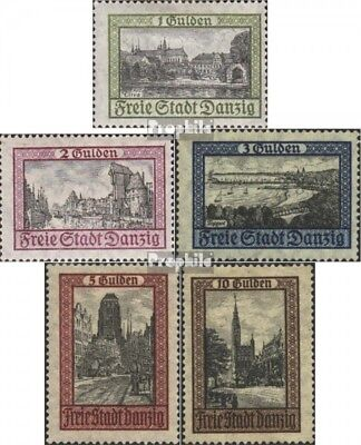 Gdansk 207-211 (complete issue) used 1924 Cityscapes