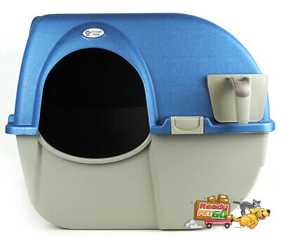 Omega Paw Roll'N Clean Automatic Self Cleaning Cat Litter Box - Large / Blue