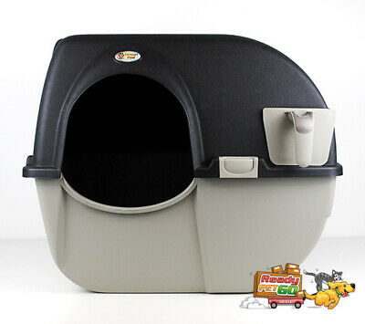 Omega Paw Roll'N Clean Automatic Self Cleaning Cat Litter Box - Large / Black