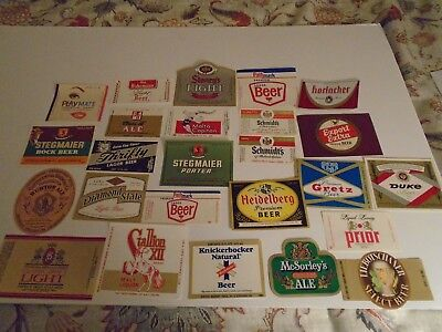 Lot Of (25) Diff Vintage Pennsylvania Beer Labels -Mint