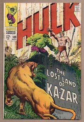Incredible Hulk #109 - 8.5 Very Fine+ - Original Owner Collection
