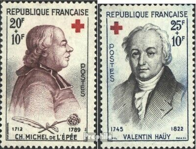 France 1270-1271 (complete issue) unmounted mint / never hinged 1959 Red Cross