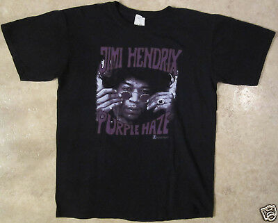 JIMI HENDRIX Purple Haze Size Medium Black T-Shirt
