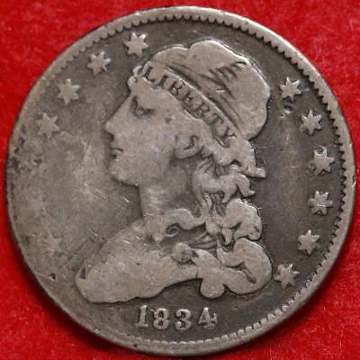 1834 Philadelphia Mint Silver Capped Bust Quarter Free Shipping
