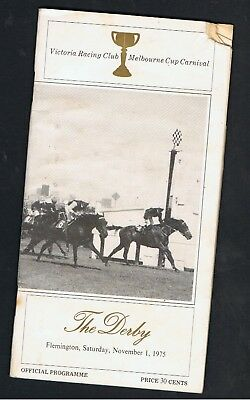 Vrc Derby Day Racebook 1975.victoria Derby  Galena Boy Wins The Derby.
