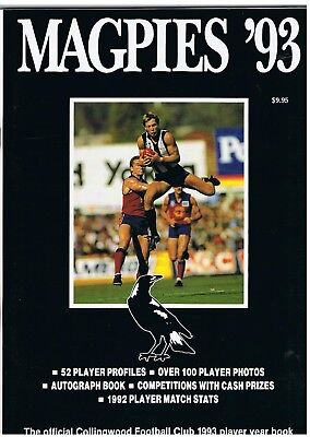 Collingwood Football Club 1993 Player Year Book. Superb .