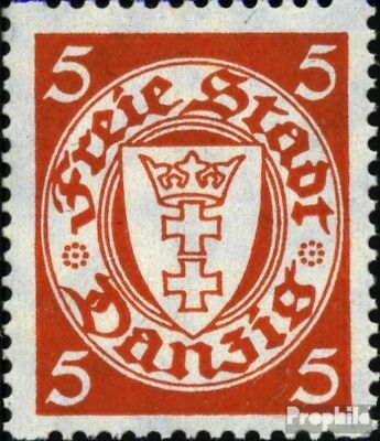 Gdansk 290D X rollenzähnung used 1938 Postage stamp, WZ 5