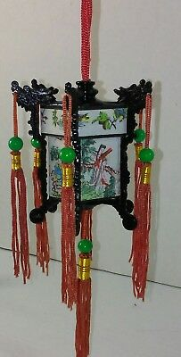 LOT OF 9 Vintage Palace Lantern Christmas Tree Ornaments In Original Box Chinese