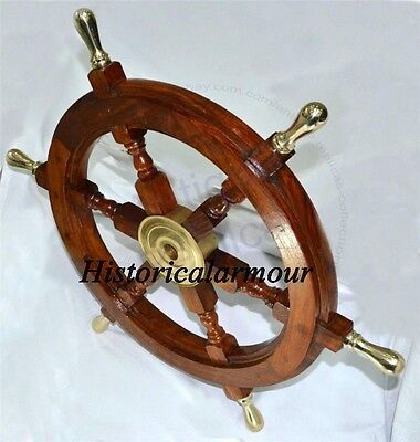 "Vintage Ship Wheel 24"" Dia Replica Boat Wheel Steering Wheel Pirate Ship Wheel"