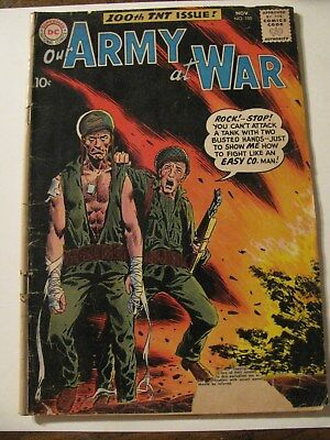 OUR ARMY AT WAR Comic Book VINTAGE Silver Age  #100  DC 1960