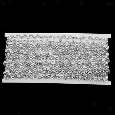 10 Yards Curved Crystal Beaded Chain Ribbon Trim for Wedding Xmas Crafts