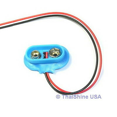 5 x 9V 9-Volt Battery Clip / Connector Snap - USA Seller - Free Shipping