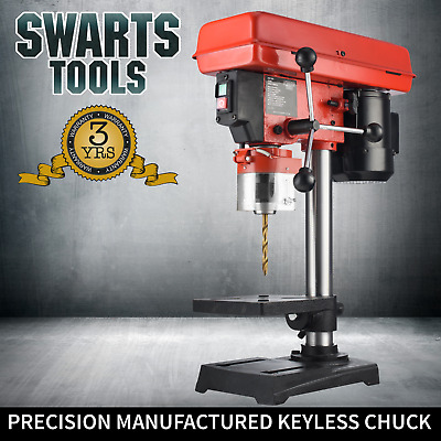 Swarts Tools Drill Press Variable Speed With Precision Keyless Chuck