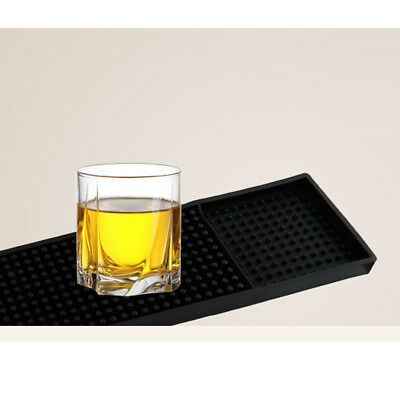 PVC Coasters Food Service Mat Table Pad Bar Service Mat Black 3.07''x23.70''