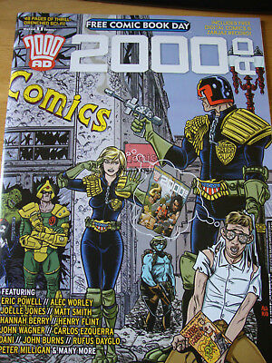 2000 AD Free Comic Book Day FCBD 2016. Charity auction