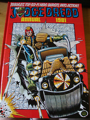 2000 AD JUdge Dredd annual 1981. Excellent condition. Charity auction.
