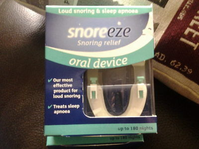 Snoreeze Snoring Relief Oral Device ,up To 180 nights, new boxed.