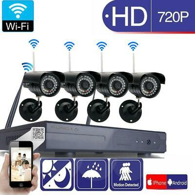 8CH 1080P Wireless NVR 36-LED Outdoor Wifi HD IR-CUT Camera Home Security System