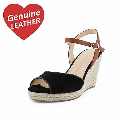 FINAL SALE 👠 GENUINE SUEDE LEATHER WEDGES / BLACK - SIZE 37 - Women's Shoes