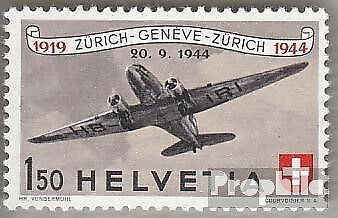Switzerland 438 (complete.issue) used 1944 airmail