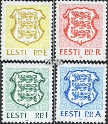Estonia 176-179 (complete issue) unmounted mint / never hinged 1992 State Emblem
