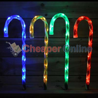 Set of Four 52cm LED Acrylic Candy Canes with 40 Lights & Ground Spikes