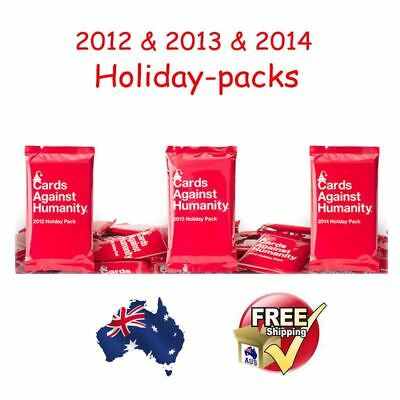 New Cards Against Humanity-3x Booster Expansion 2012 & 2013 & 2014 holiday pack