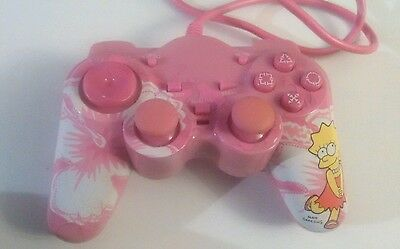 Collectible and Rare Lisa Simpson Pink Mini Game Controller PS2