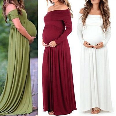 Elegant Pregnant Women Chiffon Gown Maxi Dress Wedding Party Dresses Photography