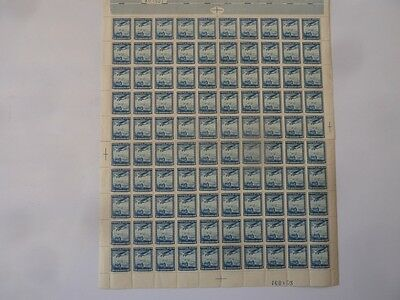 BLOCK OF 100 CHILE AIRMAIL STAMPS CORREO AEREO 20 CENTAVOS UNUSED 1930s