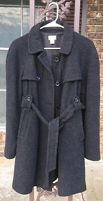 Motherhood Maternity Gray Peacoat Women's Size Medium Wool Blend Jacket EUC