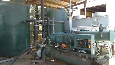199? 300 ton York YS Water-Cooled Chiller 460 Volts R-22 Screw Liquid Chiller