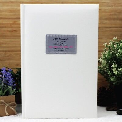 Personalised Wedding Photo Album - 300 - White - Add a Name & Message