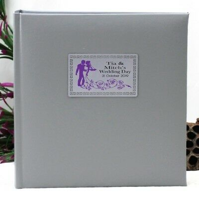 Personalised Wedding Photo Album - Silver - 200 - Add a Name & Message