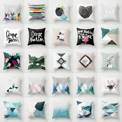 Boho Geometric Polyester Pillow Case Waist Cushion Cover Sofa Home Decor Novelty