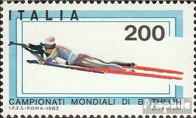Italy 1825 (complete issue) unmounted mint / never hinged 1983 biathlon-WM