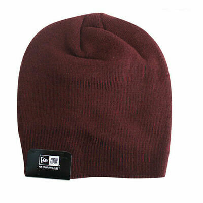 New Era Mens Womens Unisex Gathered Slouch Beanie Hat Maroon 10830524 UW