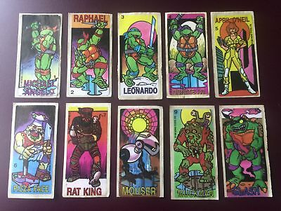 Set 1-50 Teenage Mutant Hero (ninja) Turtles stickers TMNT - Dunkin chewing gum
