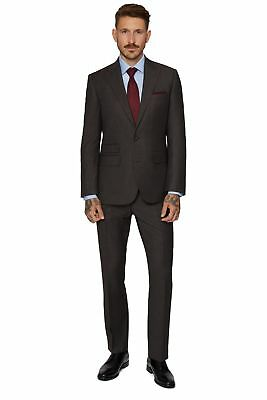 Moss 1851 Mens Tailored Fit Brown Texture Jacket