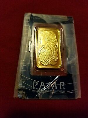 1 Troy Oz Gold Bar - PAMP Suisse Fortuna A038238