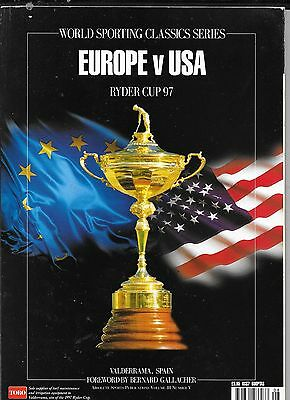 Europe v USA Ryder Cup 97 Brochure World Sporting Classics Series