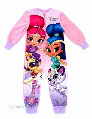 Girls SHIMMER and SHINE fleece all in one, pyjamas, onesi, onezee 18mths - 5yrs