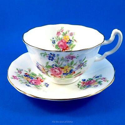 Pretty Bouquet Adderley Lawley Tea Cup and Saucer Set