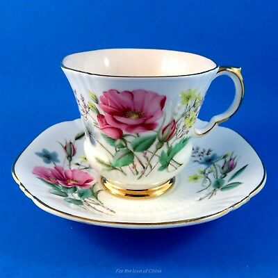 Pretty Floral Bouquet Royal Adderley Tea Cup and Saucer Set