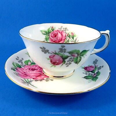 Gorgeous Pink Roses Adderley Tea Cup and Saucer Set