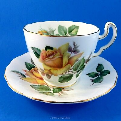 "Yellow Rose "" Minerve "" Adderley Tea Cup and Saucer Set"