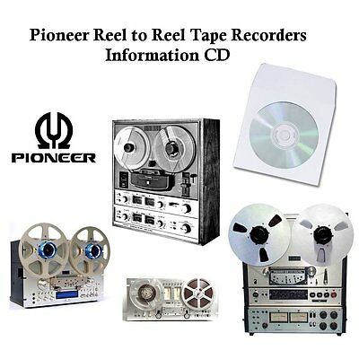 Pioneer Tape Recorder Manuals Cd Reel To Reel Service Operation Manual Etc