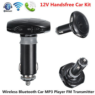 Car Wireless Bluetooth FM Transmitter Radio Adapter MP3 Player Dual USB Charger